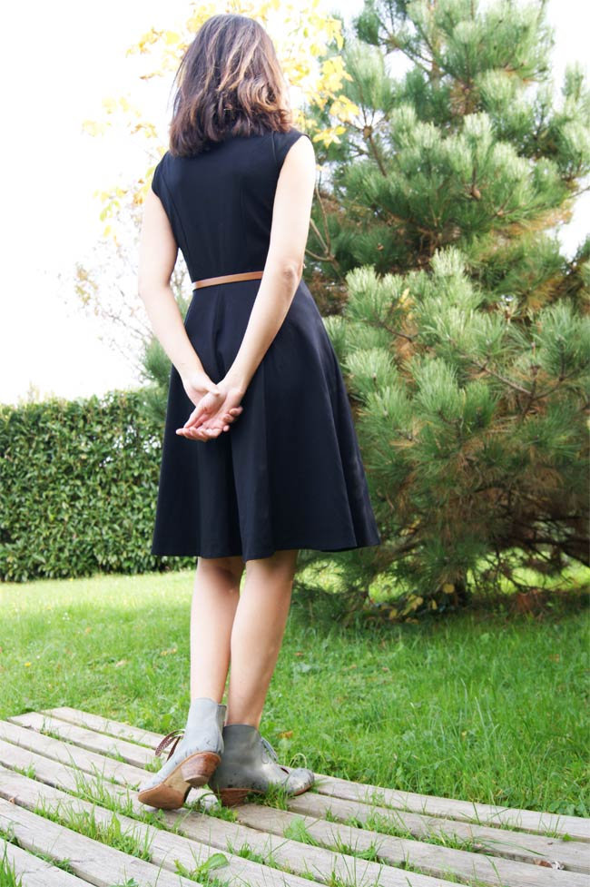 caroll robe noire made in france