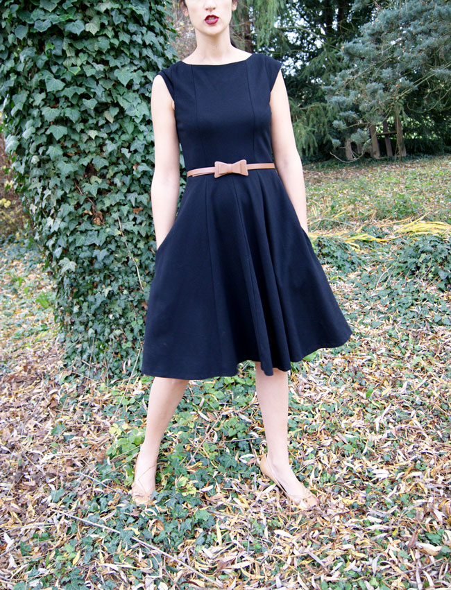 robe noire made in france caroll