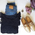 Booon weekend Top dentelle lafrenchcocotte Derbies karston madeinfrance Jeans levis