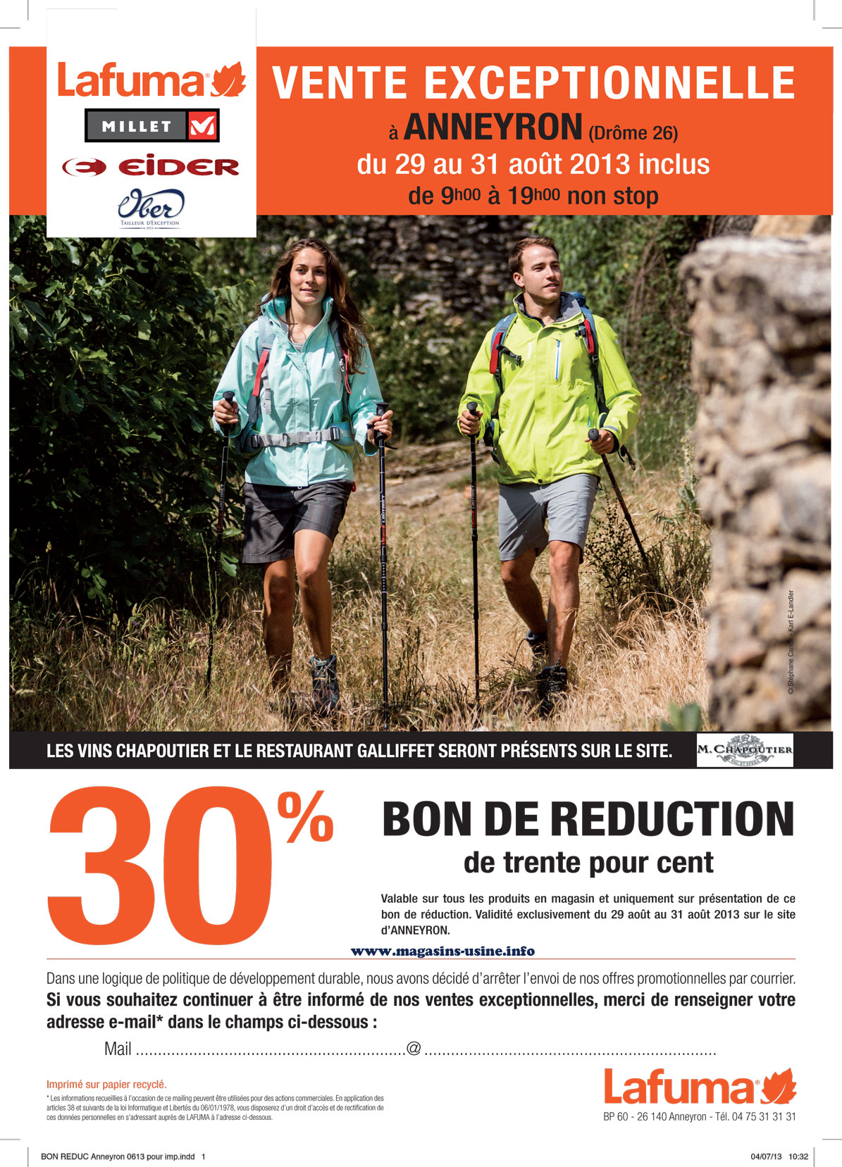 Bon plan magasin d 39 usine lafuma blog mode en francelafuma outlet sales - Fermob magasin d usine ...