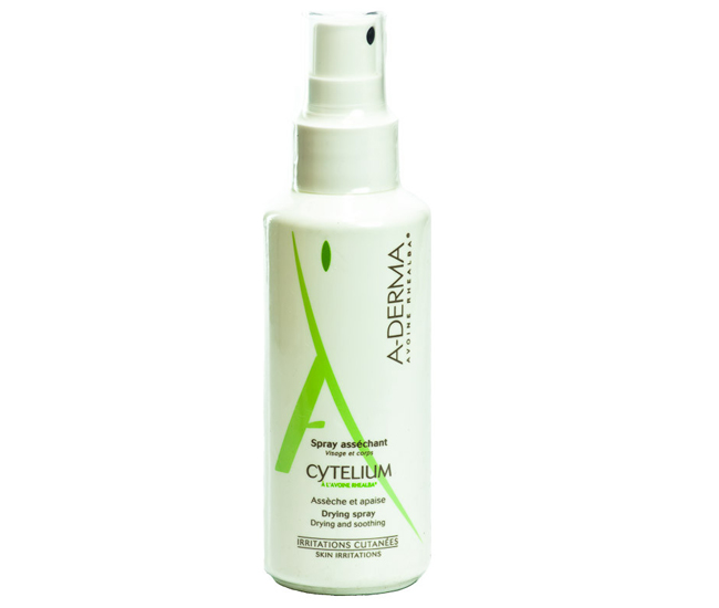 cytelium aderma lotion boutons blog beaute