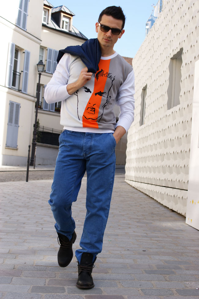 pantalon bleu de paname pull pic de nore mode homme made in france