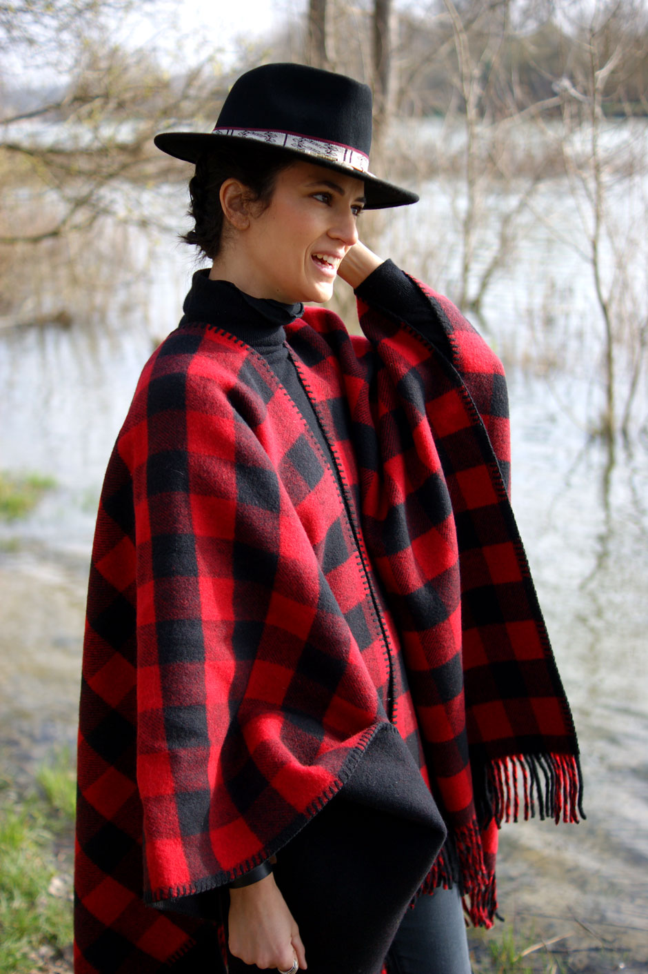 cape poncho laine la mericaine made in france