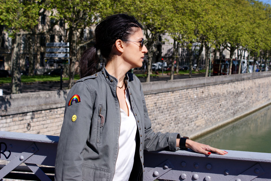 look blog mode veste army ecussons brodes