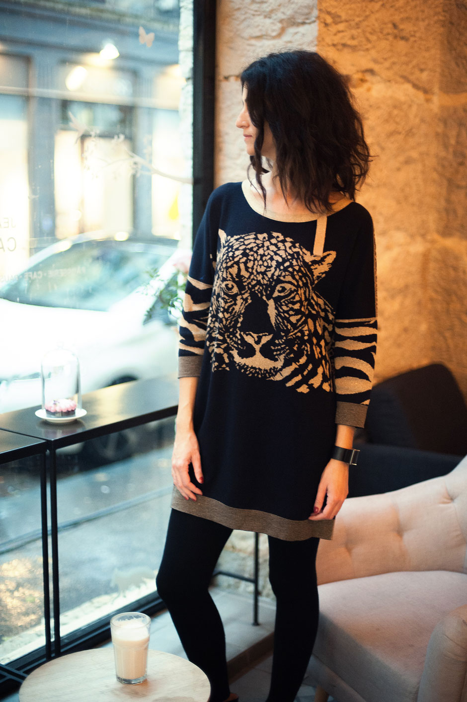 robe pull leopard chic blogueuse mode