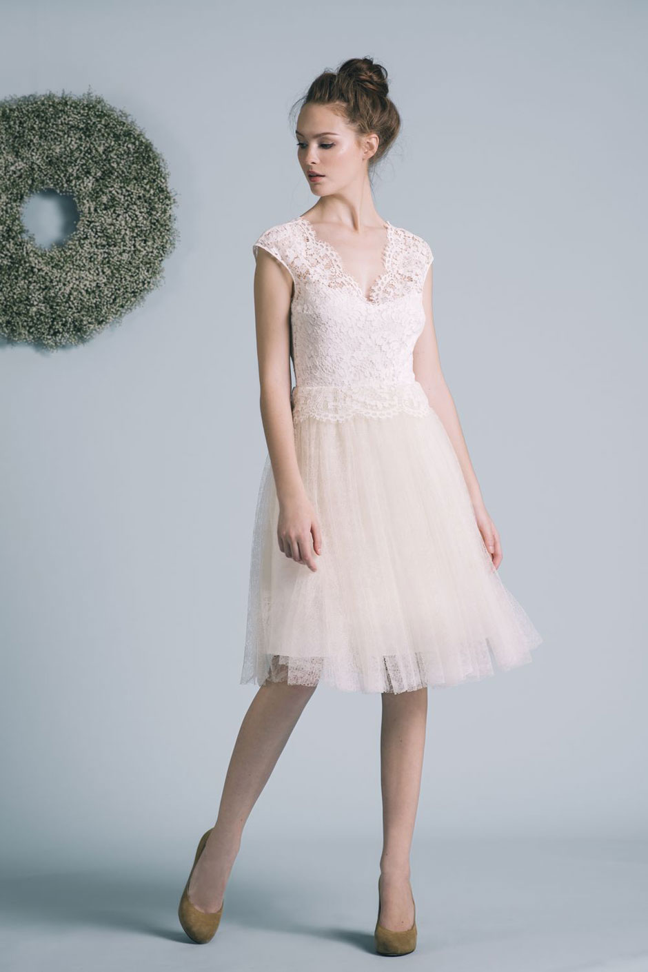 15 made in France short wedding dresses - Blog Mode en France