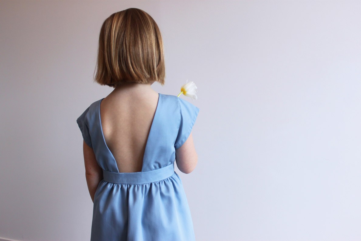 robe fille dos nu made in france maison eoz