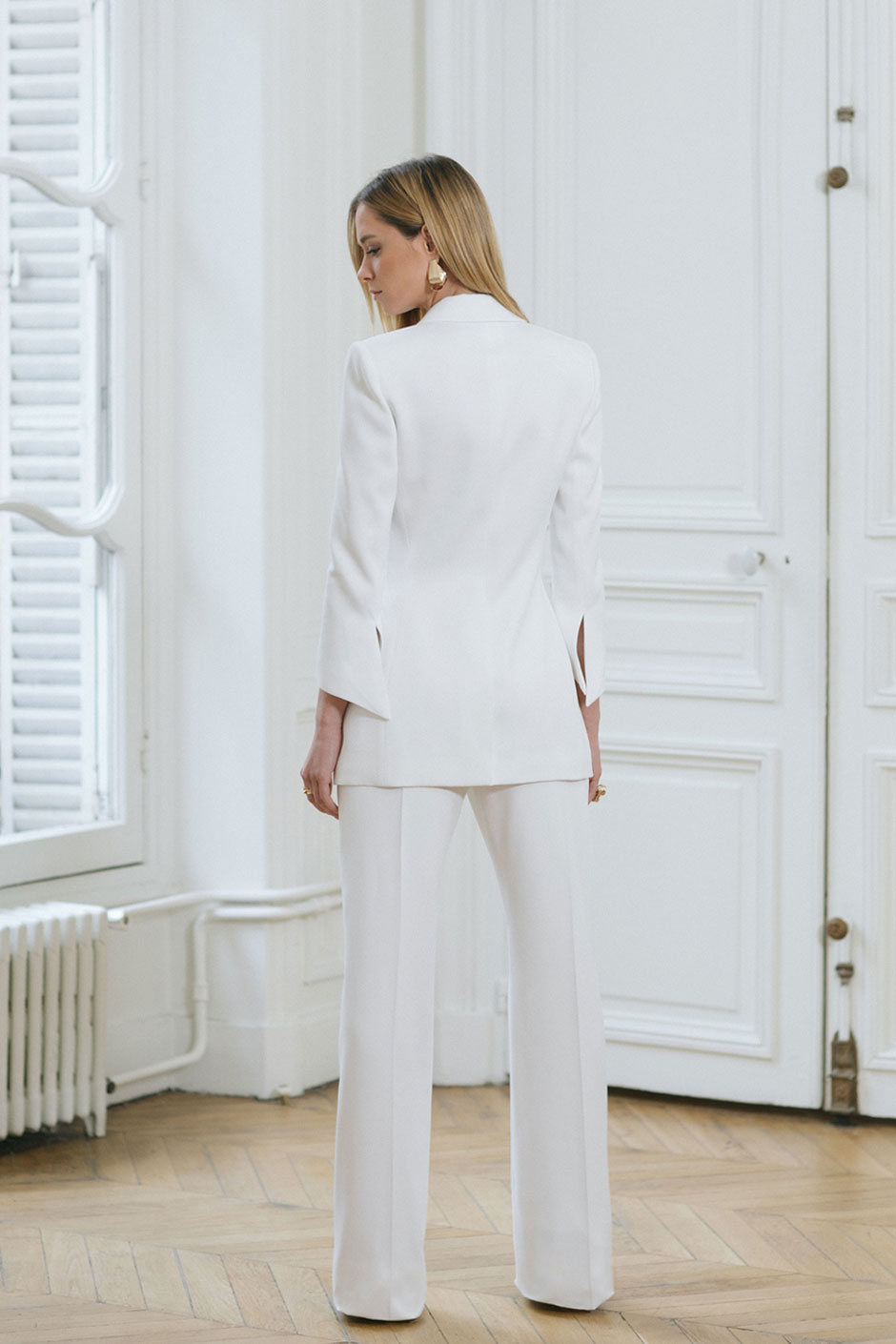 tailleur pantalon femme chic mariage made in france