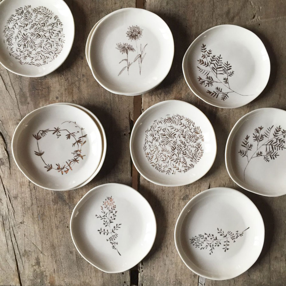 assiettes porcelaine motifs made in france atelier epure