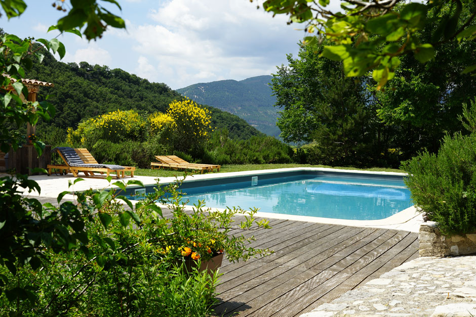 chambres hotes piscine drome provencale baronnies
